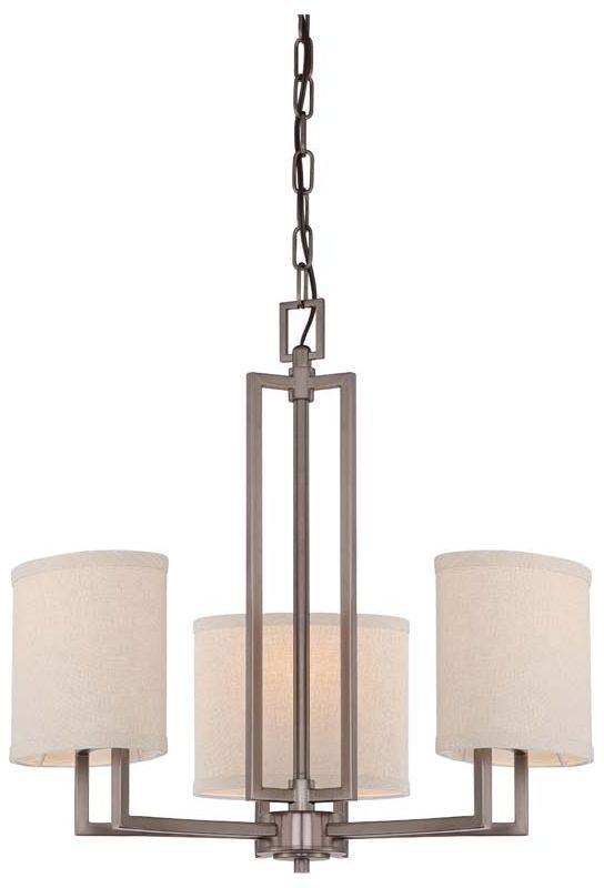 Nuvo Lighting 60/4857 Gemini Three Light Chandelier with Khaki Fabric Sale $229.99 ITEM: bci1949266 ID#:60/4857 UPC: 45923648571 :
