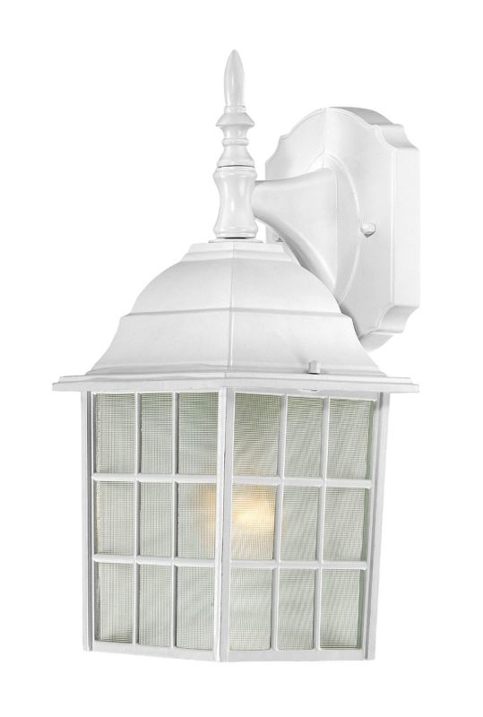 Nuvo Lighting 60/4904 Adams Single-Light Wall Lantern with Frosted