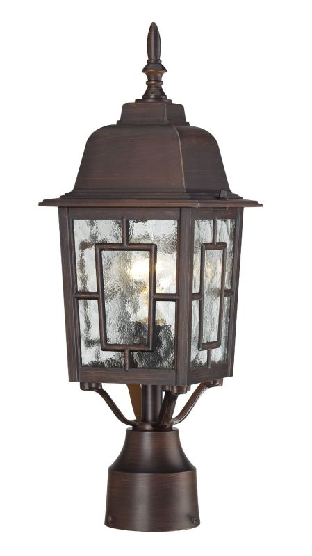 Nuvo Lighting 60/4928 Banyon Single-Light Post Lantern with Clear
