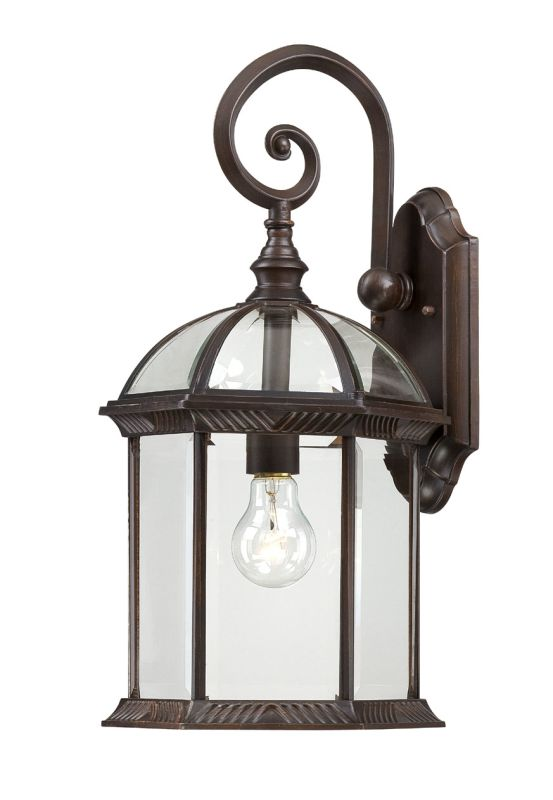 Nuvo Lighting 60/4965 Boxwood Single-Light Wall Lantern with Clear