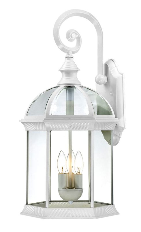 Nuvo Lighting 60/4967 Boxwood Three-Light Wall Lantern with Clear