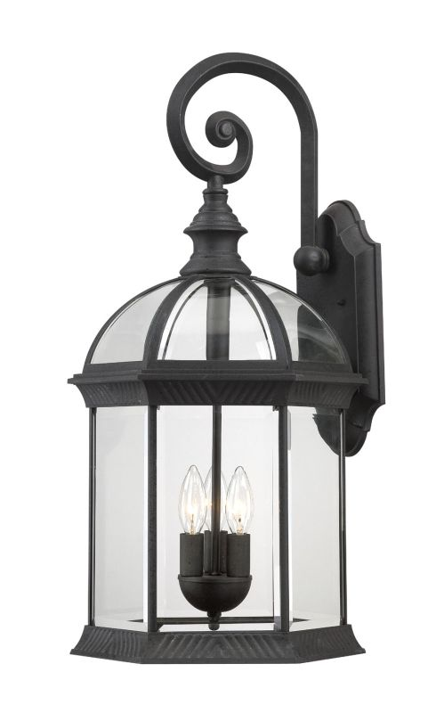 Nuvo Lighting 60/4969 Boxwood Three-Light Wall Lantern with Clear