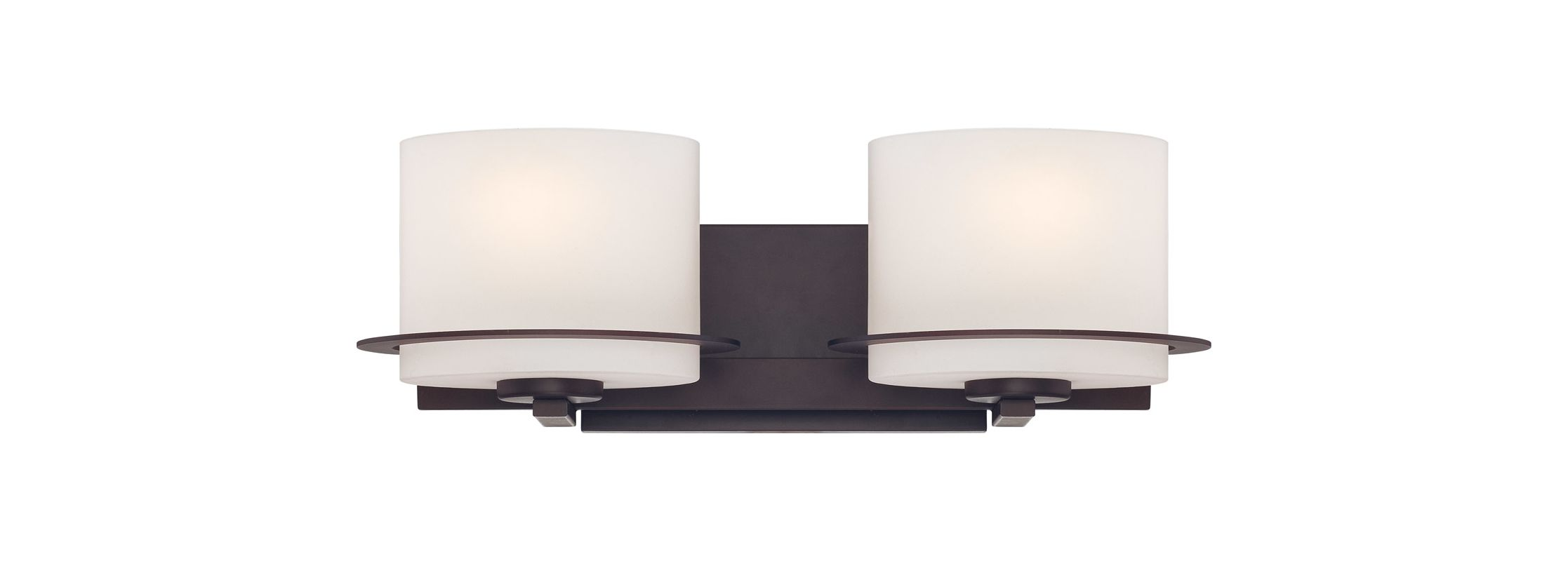 Nuvo Lighting 60/5002 Loren Two-Light Bathroom Fixture with Oval