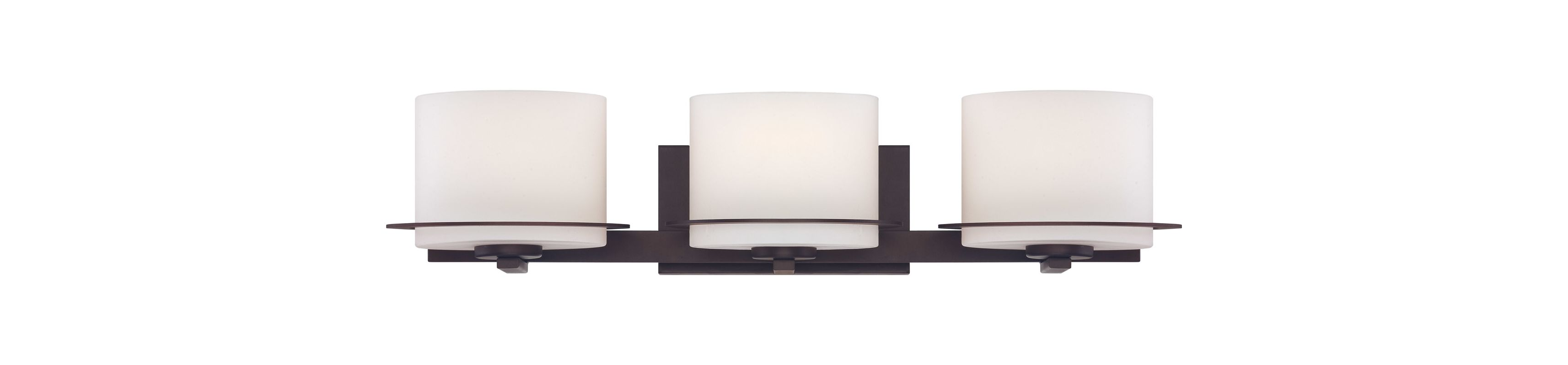 Nuvo Lighting 60/5003 Loren Three-Light Bathroom Fixture with Oval