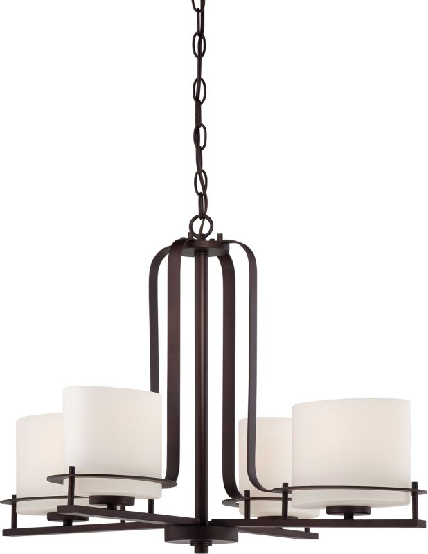 Nuvo Lighting 60/5004 Loren 4 Light Single Tier Chandelier with Oval