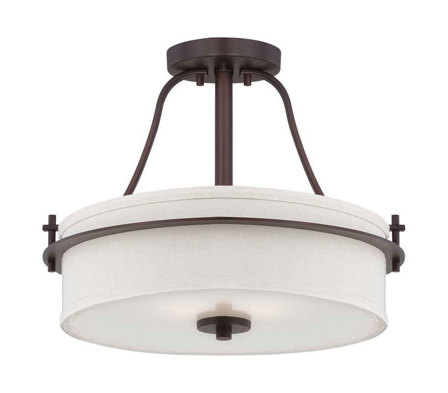 Nuvo Lighting 60/5007 Loren 2 Light Semi-Flush Indoor Ceiling Fixture