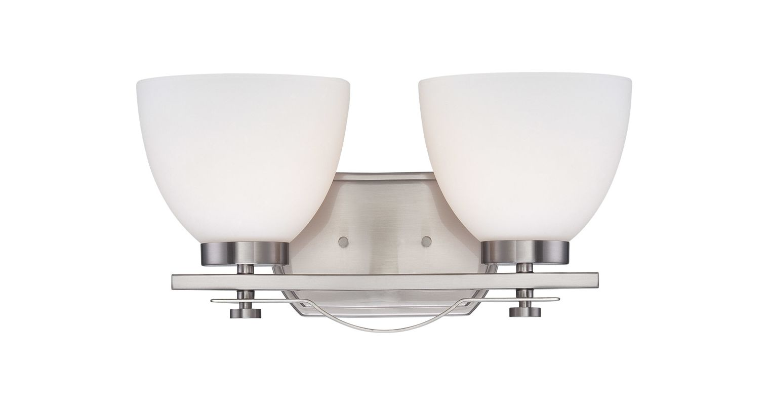 Nuvo Lighting 60/5012 Bentley Two-Light Bathroom Fixture with Frosted