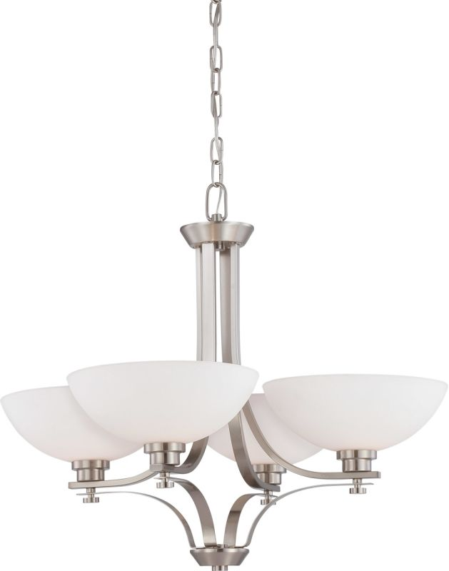 Nuvo Lighting 60/5014 Bentley Four-Light Single-Tier Chandelier with
