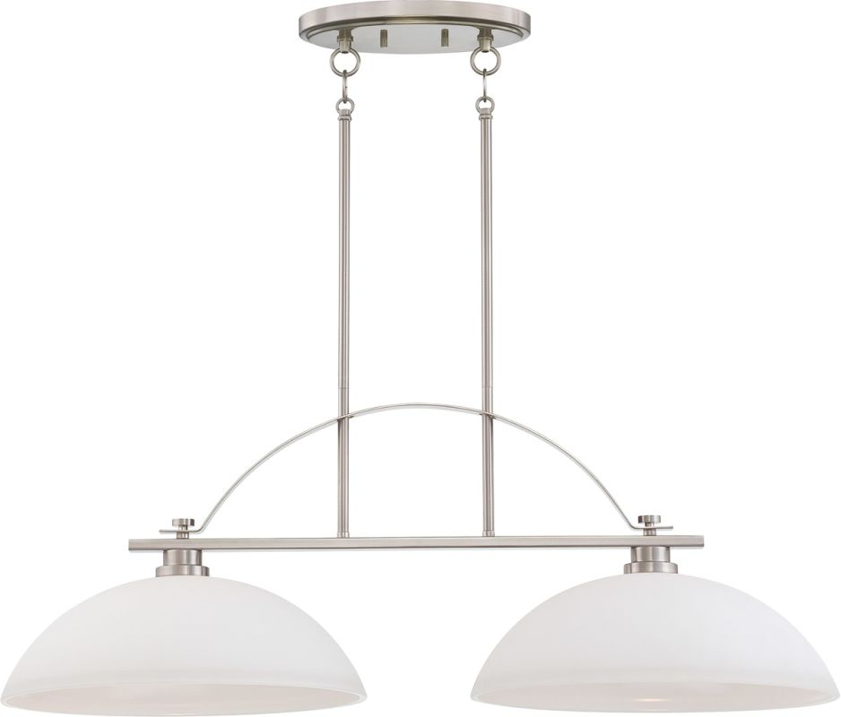Nuvo Lighting 60/5018 Bentley Two-Light Island Fixture with Frosted