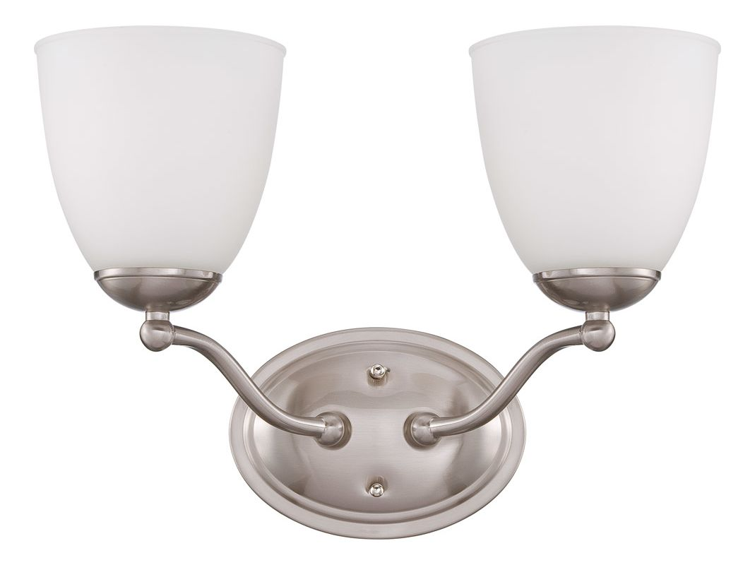 Nuvo Lighting 60/5032 Patton Two-Light Bathroom Fixture with Frosted