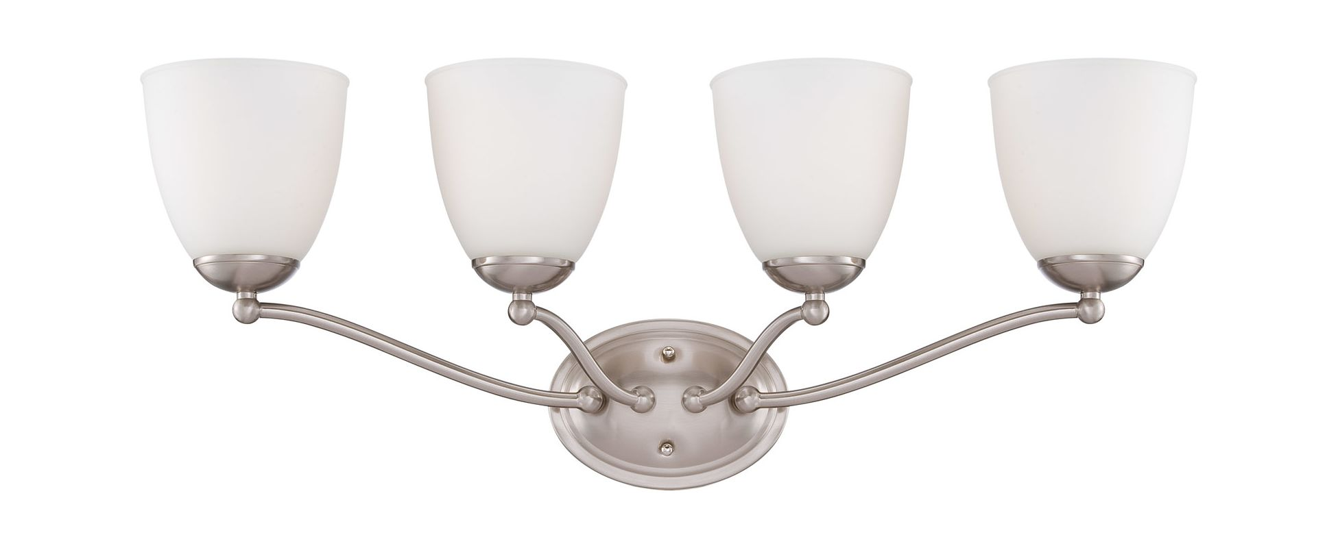 Nuvo Lighting 60/5034 Patton Four-Light Bathroom Fixture with Frosted