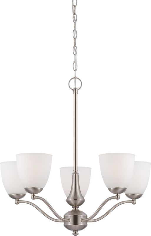 Nuvo Lighting 60/5035 Patton Five-Light Single-Tier Chandelier with