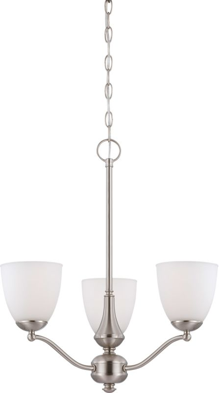 Nuvo Lighting 60/5036 Patton Three-Light Single-Tier Chandelier with