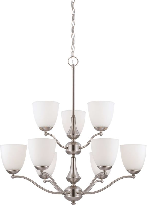 Nuvo Lighting 60/5039 Patton Nine-Light Two-Tier Chandelier with