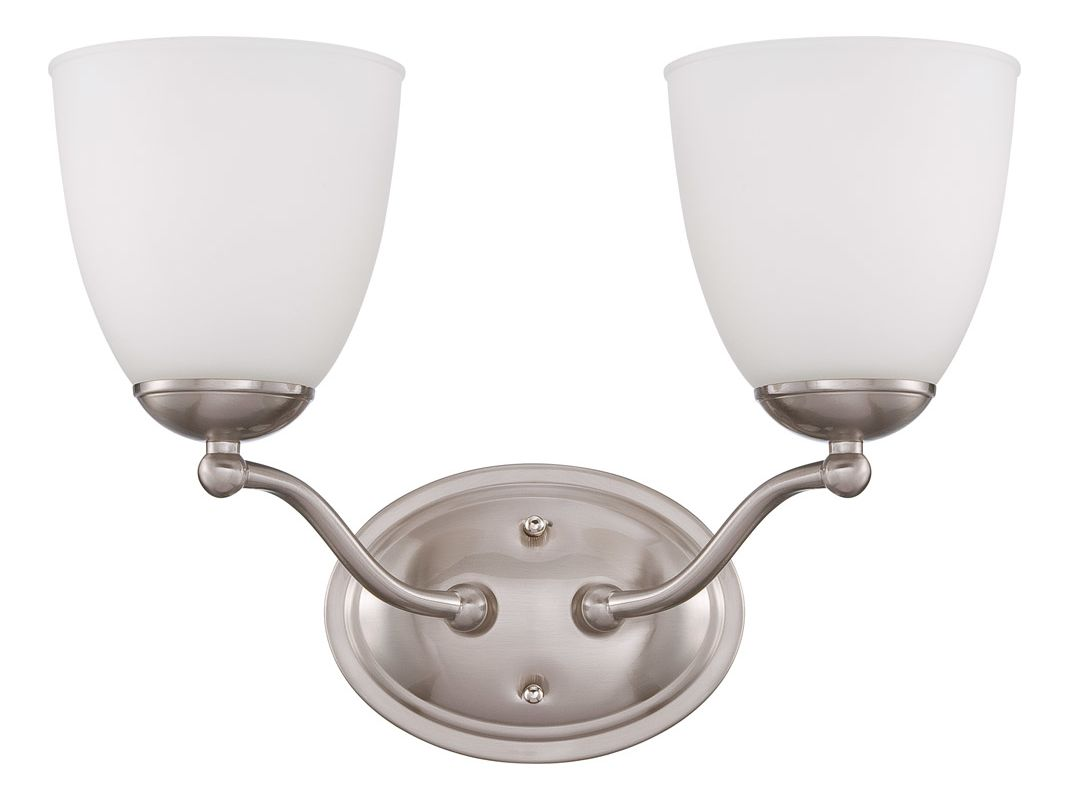 Nuvo Lighting 60/5052 Patton ES Two-Light Bathroom Fixture with