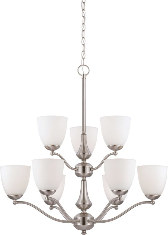 Nuvo Lighting 60/5059 Patton ES Nine-Light Two-Tier Chandelier with