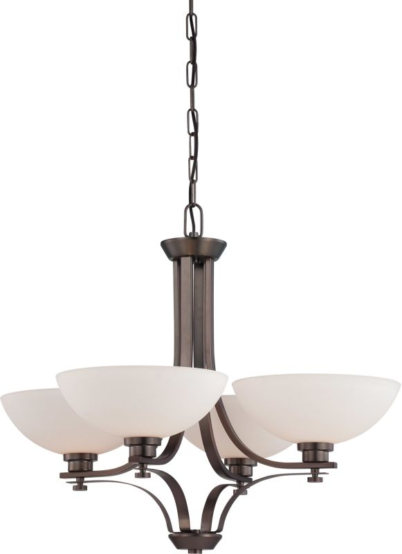 Nuvo Lighting 60/5114 Bentley Four-Light Single-Tier Chandelier with