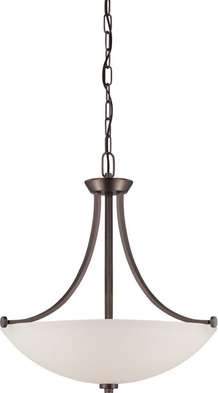 Nuvo Lighting 60/5116 Bentley Three-Light Bowl Pendant with Frosted