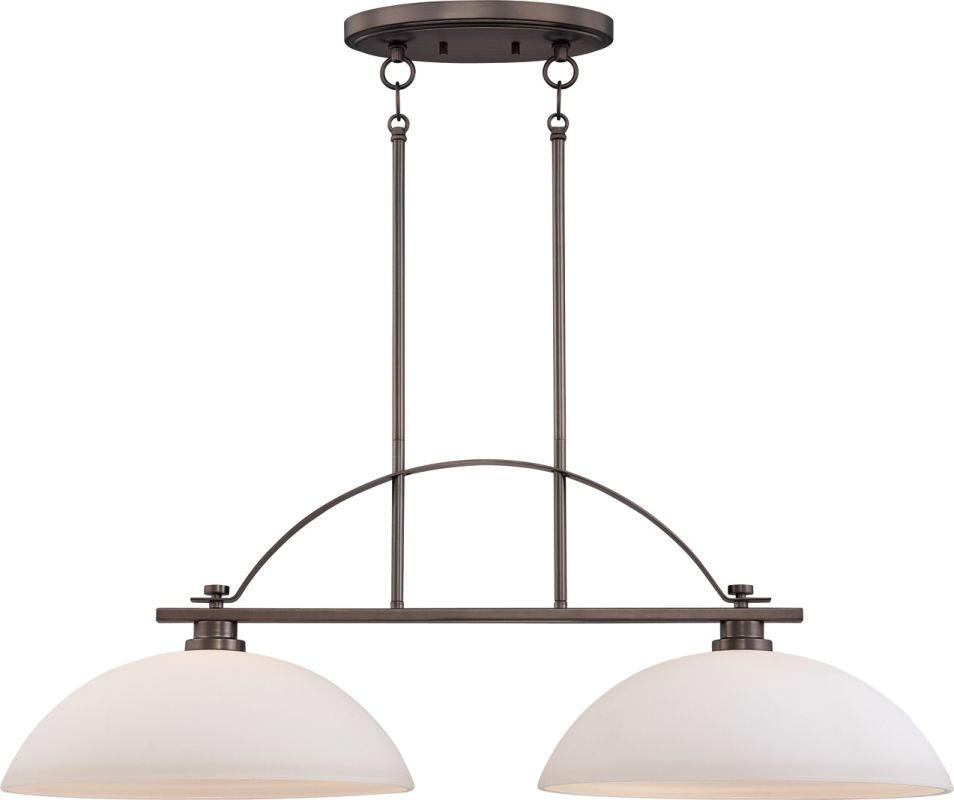 Nuvo Lighting 60/5118 Bentley Two-Light Island Fixture with Frosted