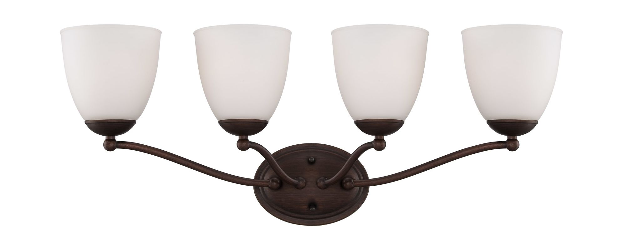 Nuvo Lighting 60/5134 Patton Four-Light Bathroom Fixture with Frosted
