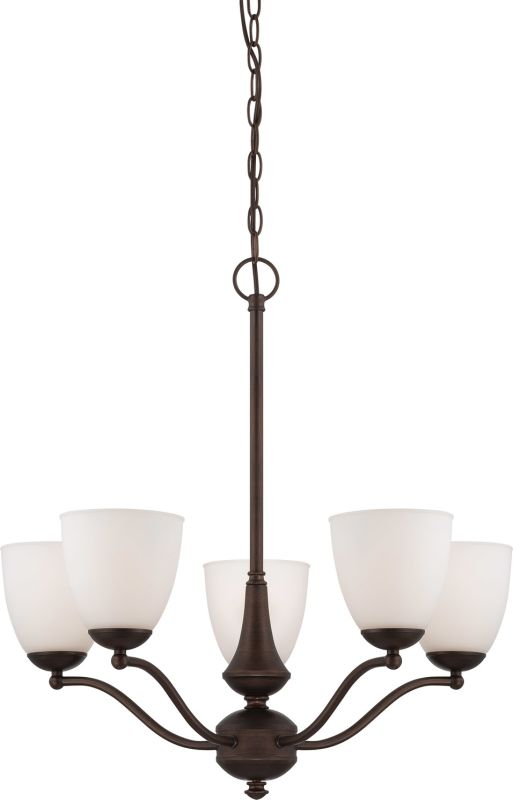 Nuvo Lighting 60/5135 Patton Five-Light Single-Tier Chandelier with
