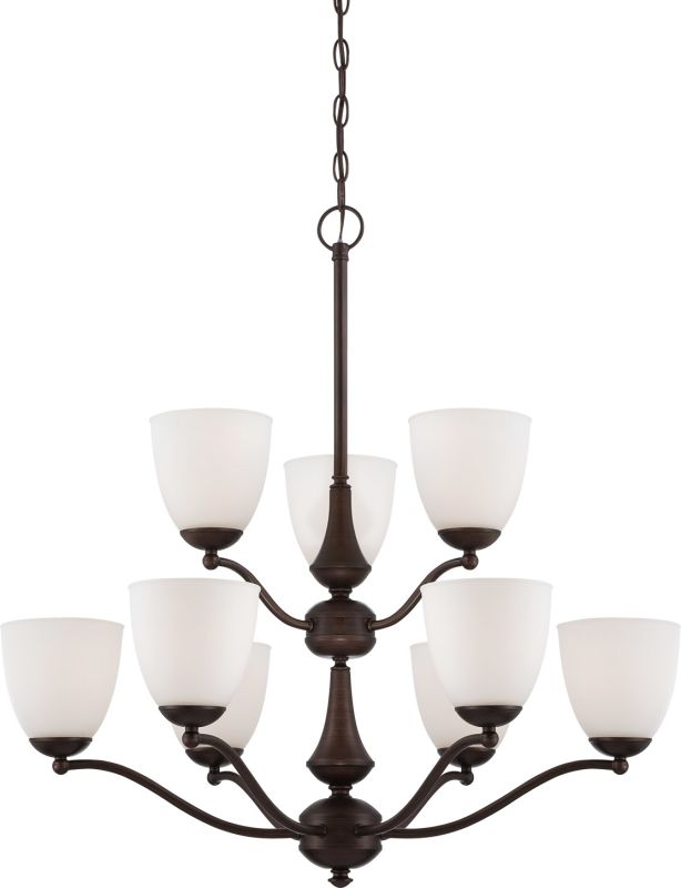 Nuvo Lighting 60/5139 Patton Nine-Light Two-Tier Chandelier with