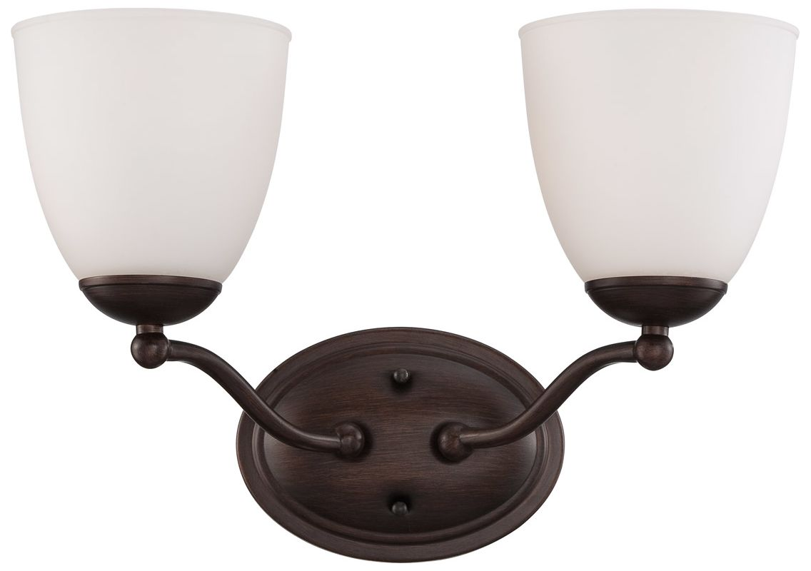 Nuvo Lighting 60/5152 Patton ES Two-Light Bathroom Fixture with