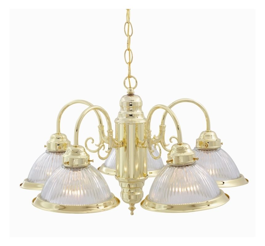 "Nuvo Lighting 76/281 5 Light 22"" Polished Brass Chandelier with Clear"