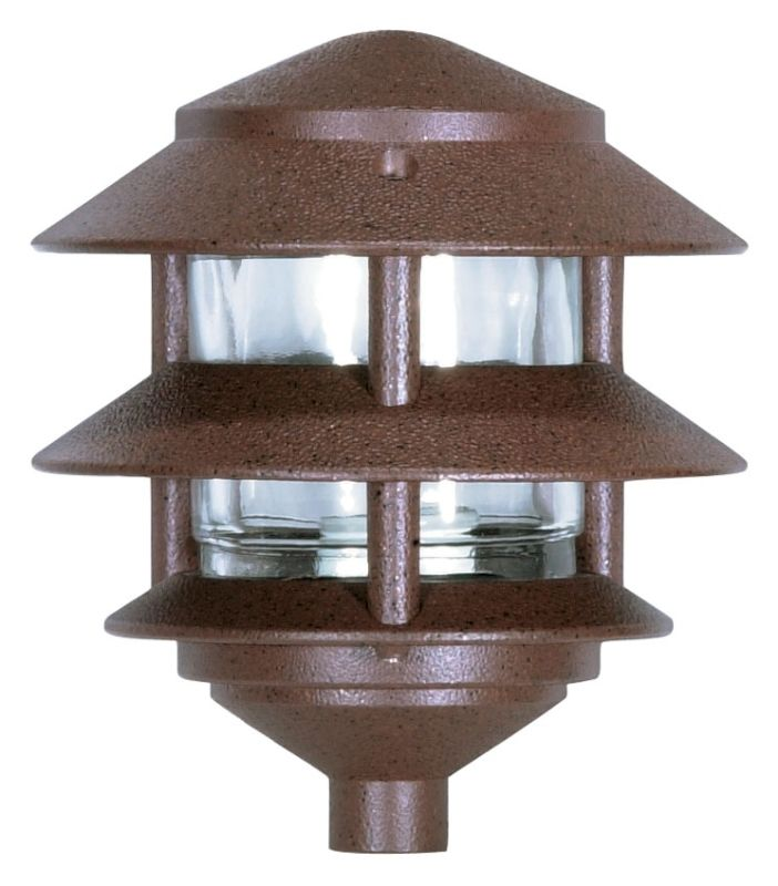 """Nuvo Lighting 76/632 Single Light 8"""" Two Louver Pathway Light with"""
