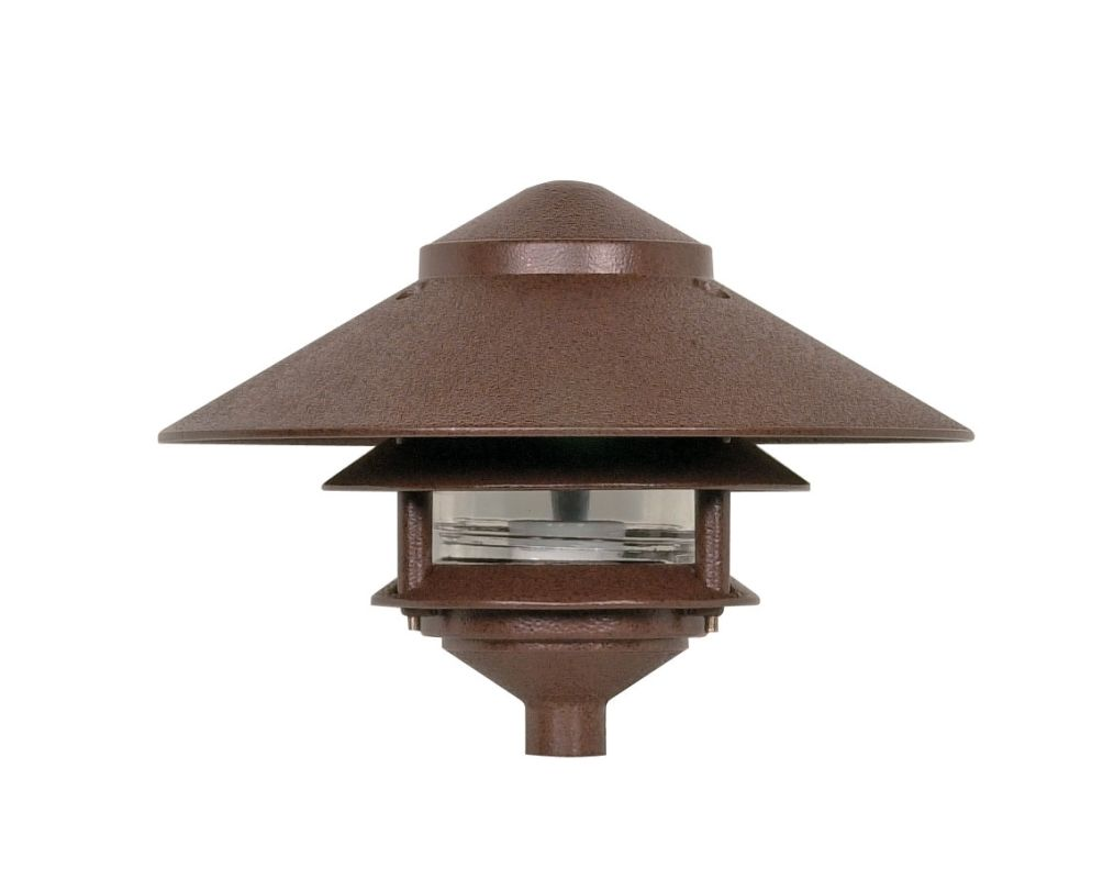"""Nuvo Lighting 76/635 Single Light 9"""" Two Louver Pathway Light with"""