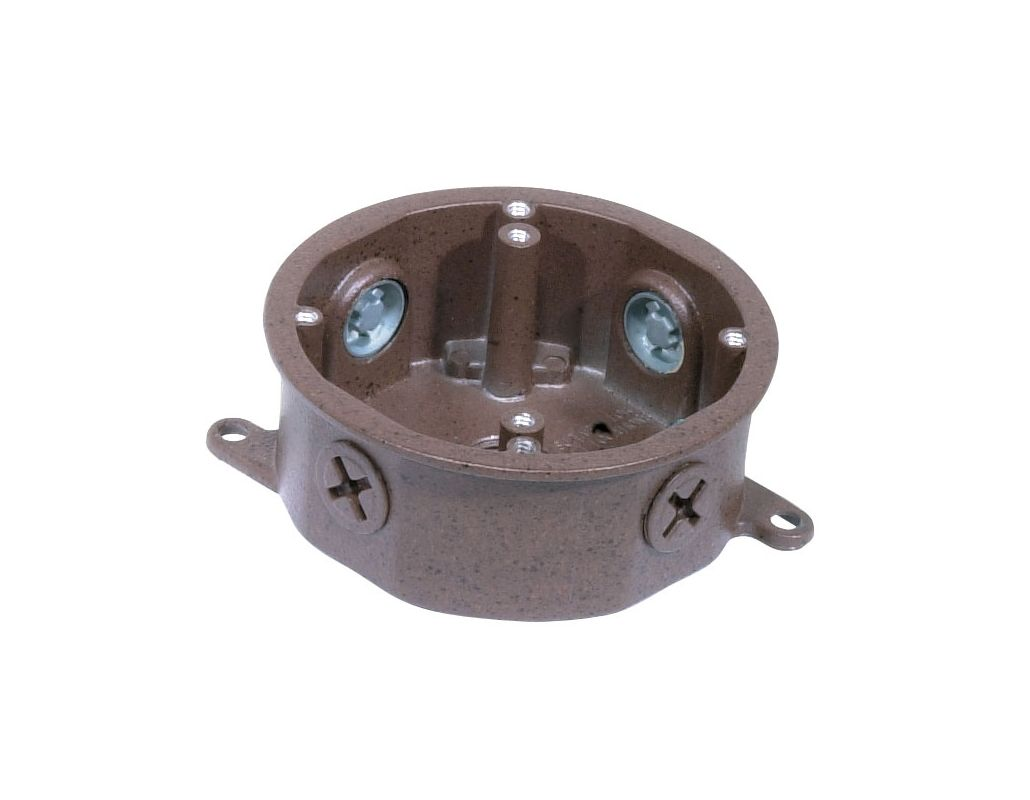 Nuvo lighting sf76 652 old bronze die cast junction box for outdoor lighting in old bronze for Exterior light no junction box