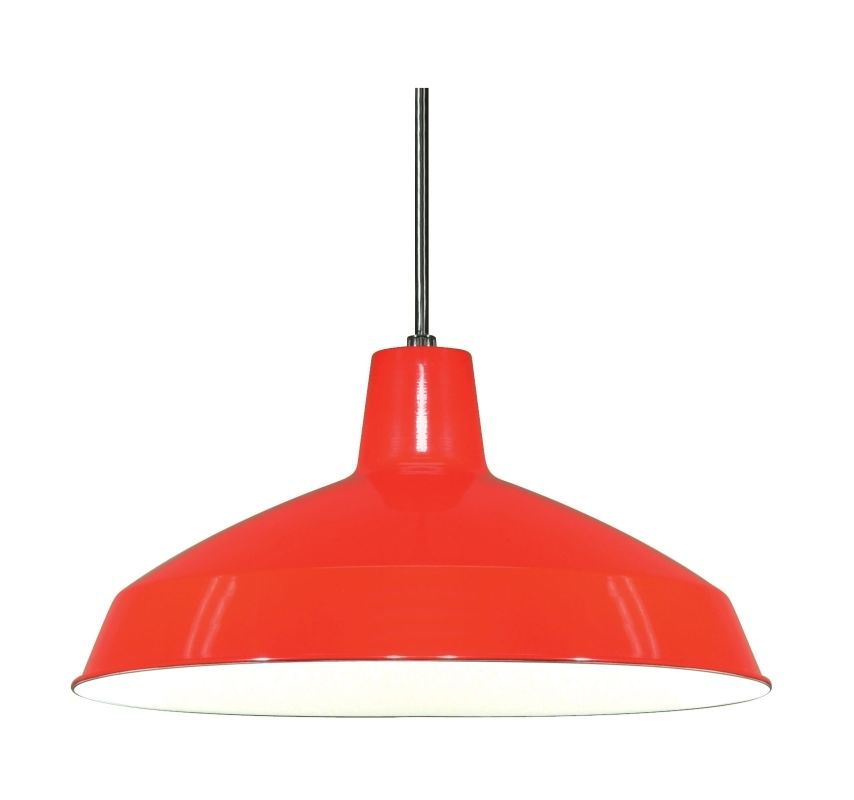 """Nuvo Lighting 76/663 Single Light 16"""" Pendant with Warehouse Shade Red"""