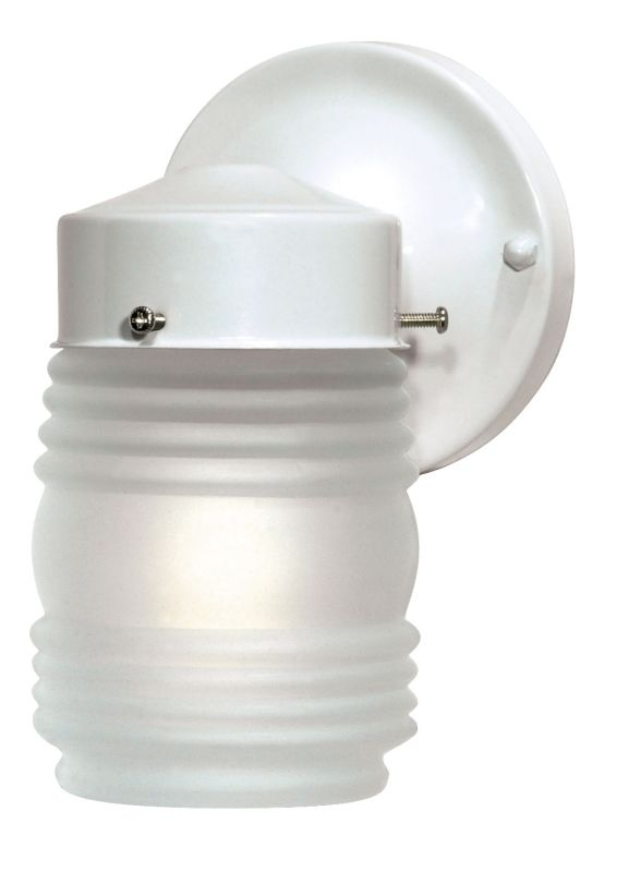 "Nuvo Lighting 76/702 Single Light 6"" Mason Jar Porch Light with"