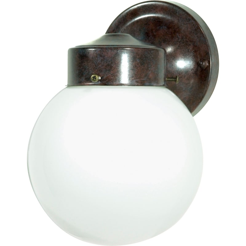 "Nuvo Lighting 76/703 Single Light 6"" Porch Light with White Globe"
