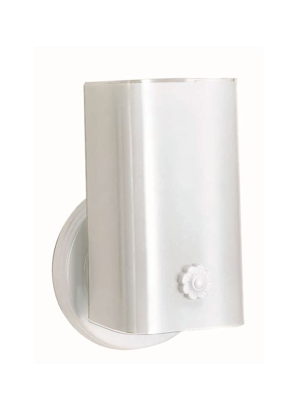 "Nuvo Lighting 77/086 Single Light 7"" Vanity with White ""U"" Channel"