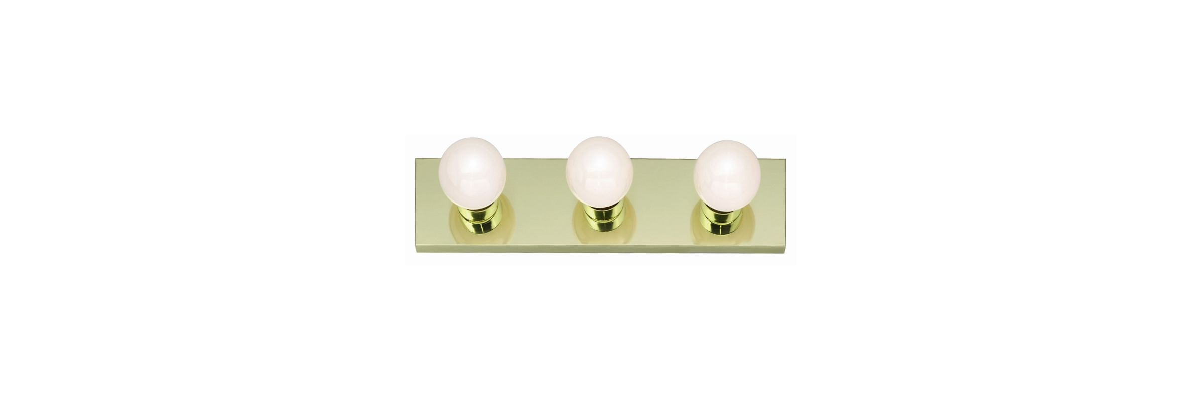 "Nuvo Lighting 77/188 Three Light 18"" Bathroom Bar Light Polished Brass"