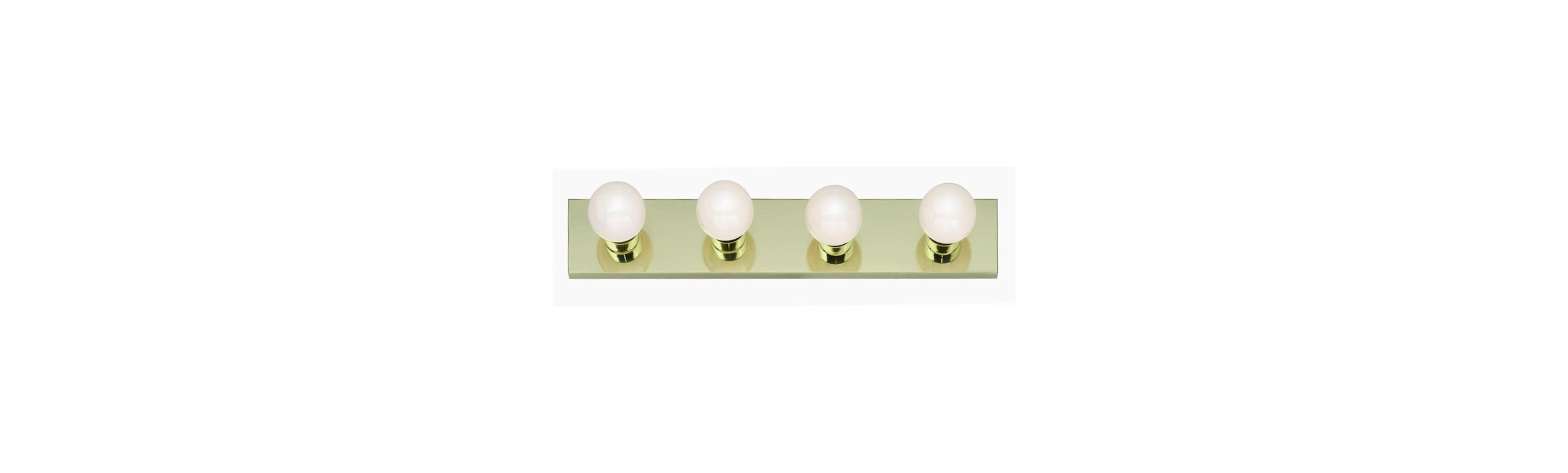 "Nuvo Lighting 77/189 Four Light 24"" Bathroom Bar Light Polished Brass"