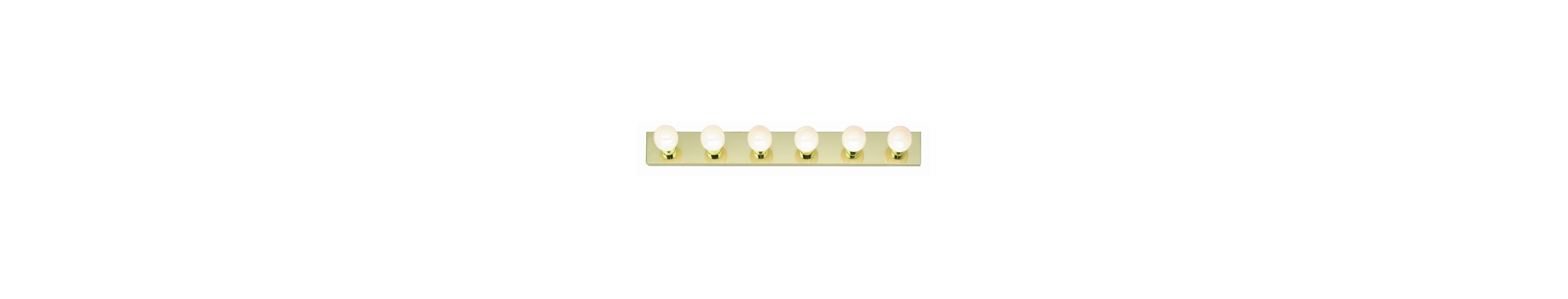 "Nuvo Lighting 77/190 Six Light 36"" Bathroom Bar Light Polished Brass"
