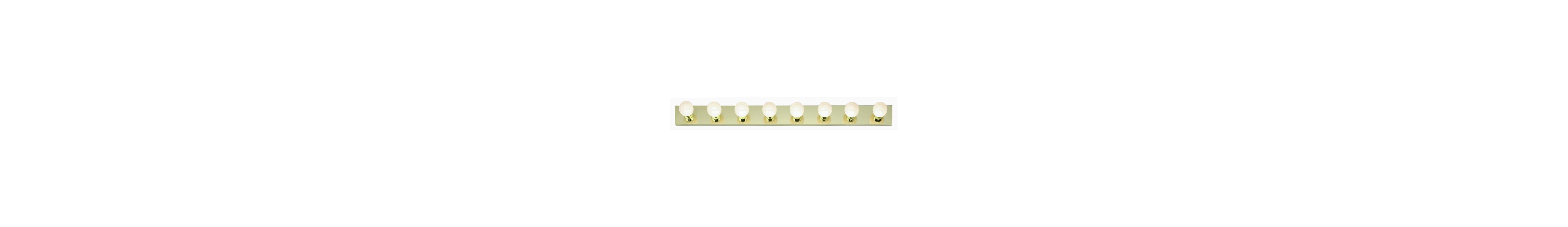 "Nuvo Lighting 77/191 Eight Light 48"" Bathroom Bar Light Polished Brass"
