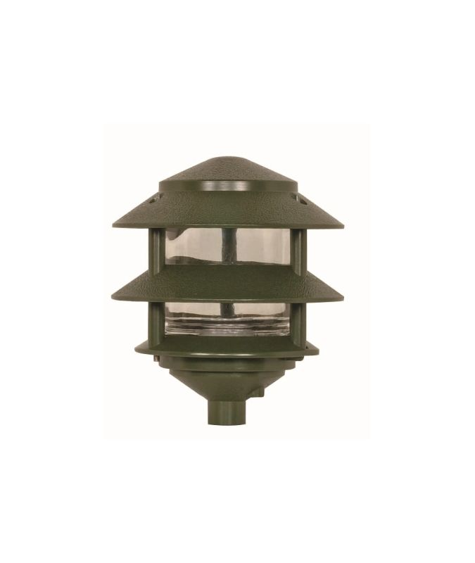 """Nuvo Lighting 77/323 Single Light 8"""" Two Louver Pathway Light with"""