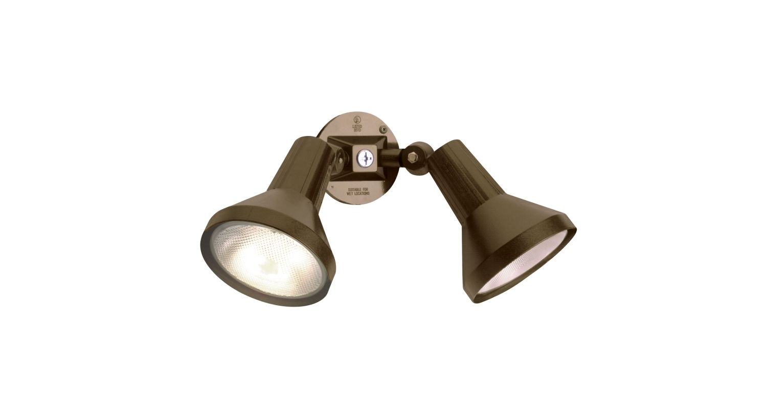 Nuvo Lighting 77/495 2 Light Dual Head Flood Light with Adjustable Sale $35.99 ITEM: bci1949551 ID#:SF77/495 UPC: 45923774959 :