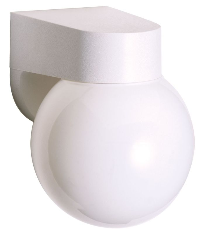 "Nuvo Lighting 77/729 Single Light 6"" Porch Light with Lexan Globe"