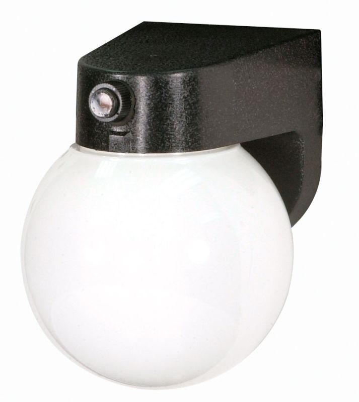 "Nuvo Lighting 77/750 Single Light 8"" Porch Light with Lexan Globe"