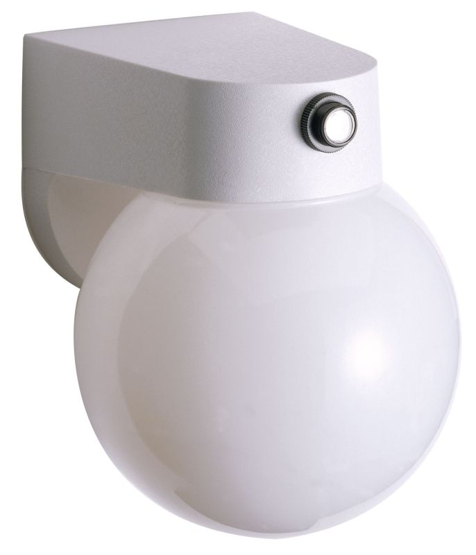 "Nuvo Lighting 77/751 Single Light 8"" Porch Light with Lexan Globe"