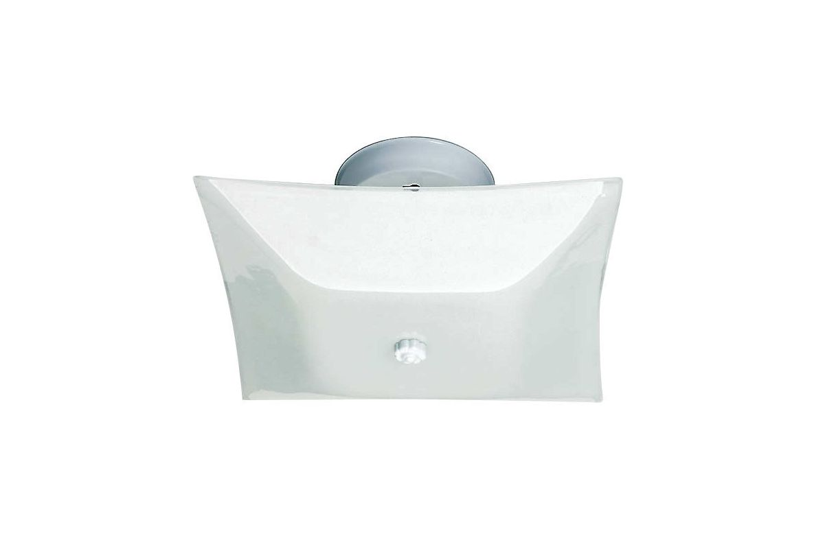 "Nuvo Lighting 77/824 Two Light 12"" Square Flush Mount Ceiling Fixture"