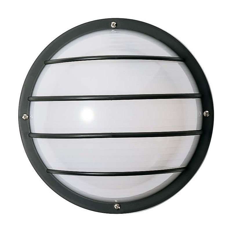 """Nuvo Lighting 77/861 Single Light 10"""" Round Cage Wall Fixture with"""