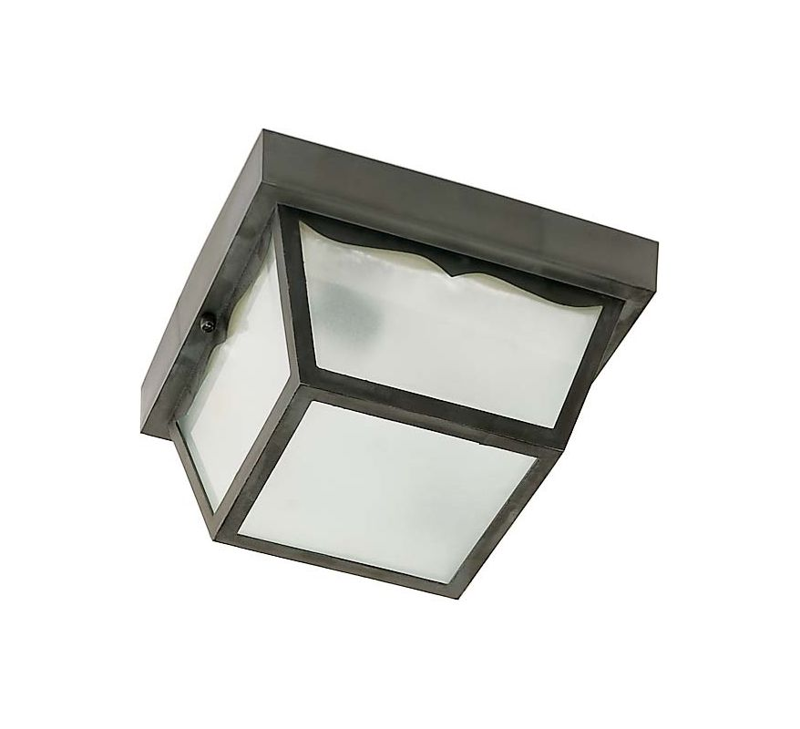 Nuvo Lighting SF77/863 Black 1 Light Flush Mount Outdoor