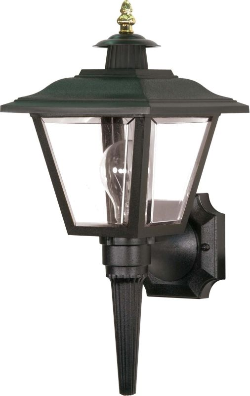 "Nuvo Lighting 77/896 Single Light 17"" Coach Wall Lantern with Brass"