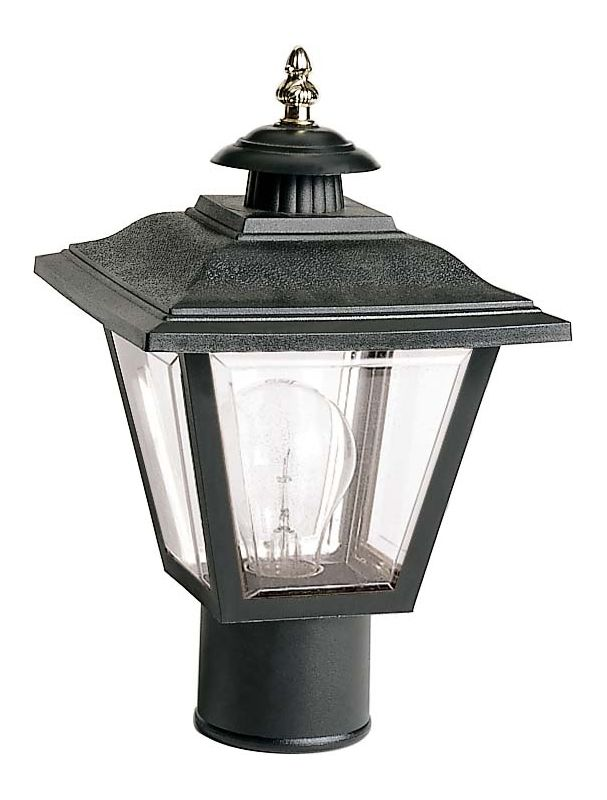 "Nuvo Lighting 77/898 Single Light 13"" Coach Post Lantern with Brass"
