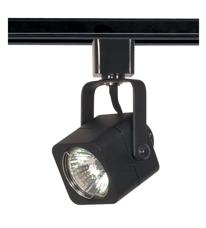 Nuvo Lighting TH313 Single Light MR16 120V Square Track Head Black